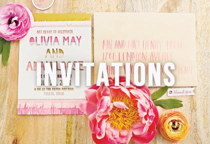 North Texas wedding invitations