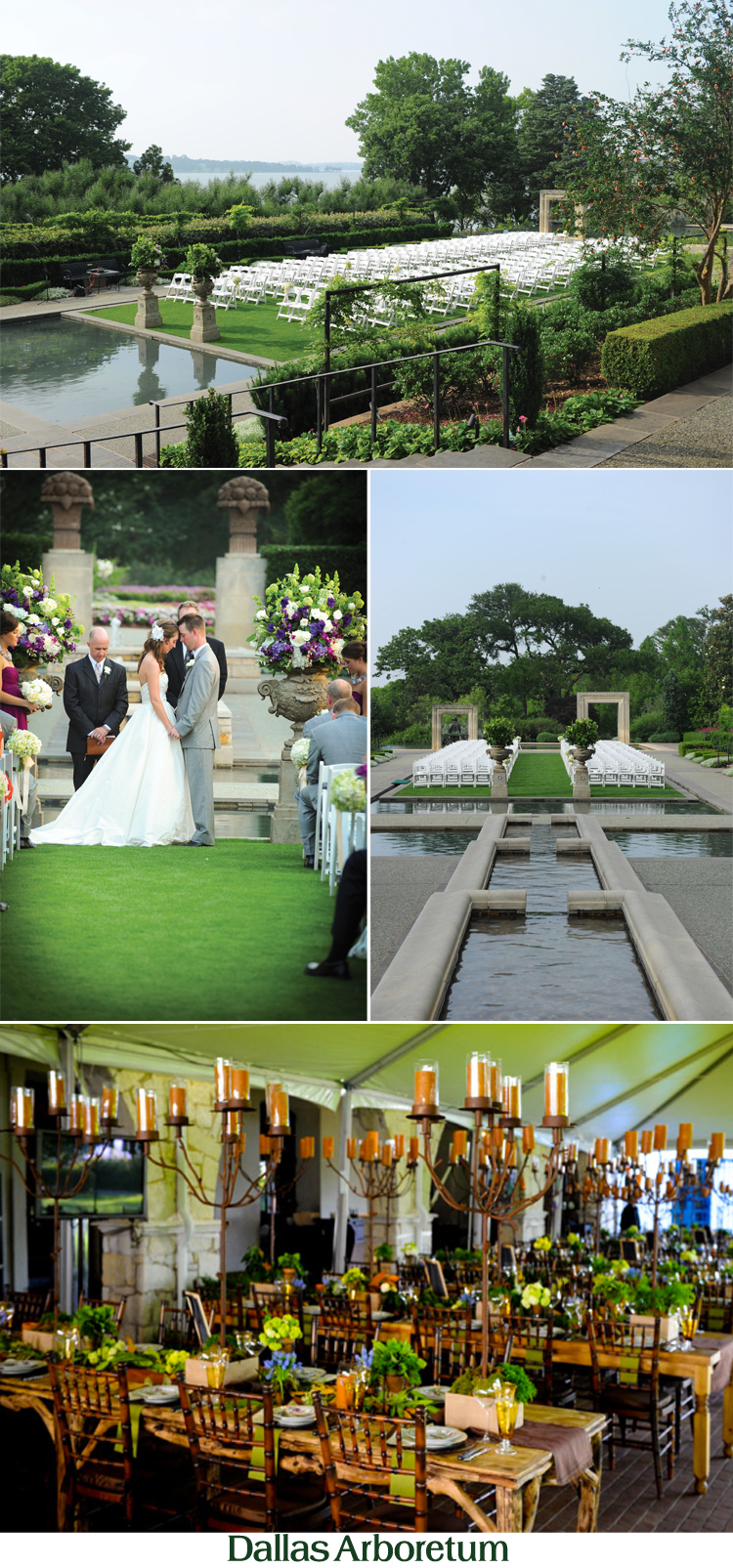 Dallas wedding and reception venue the Dallas Arboretum