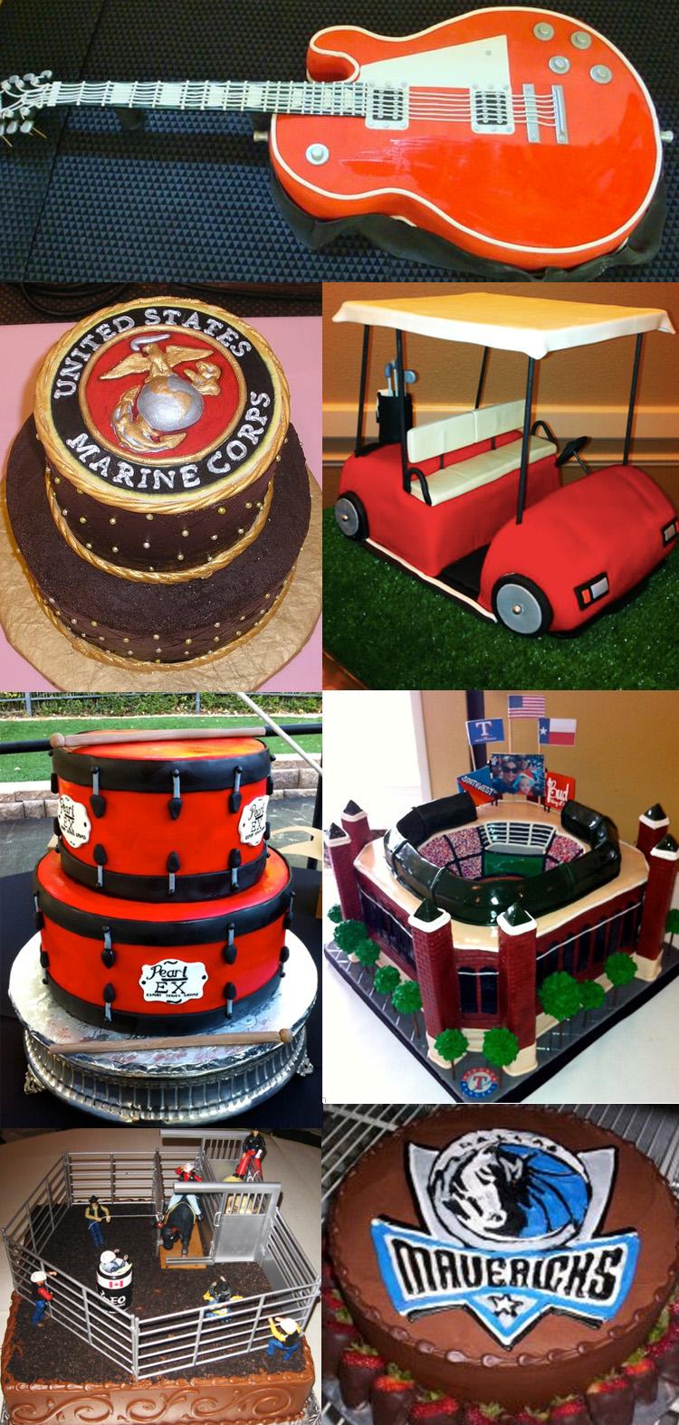 Texas grooms cakes