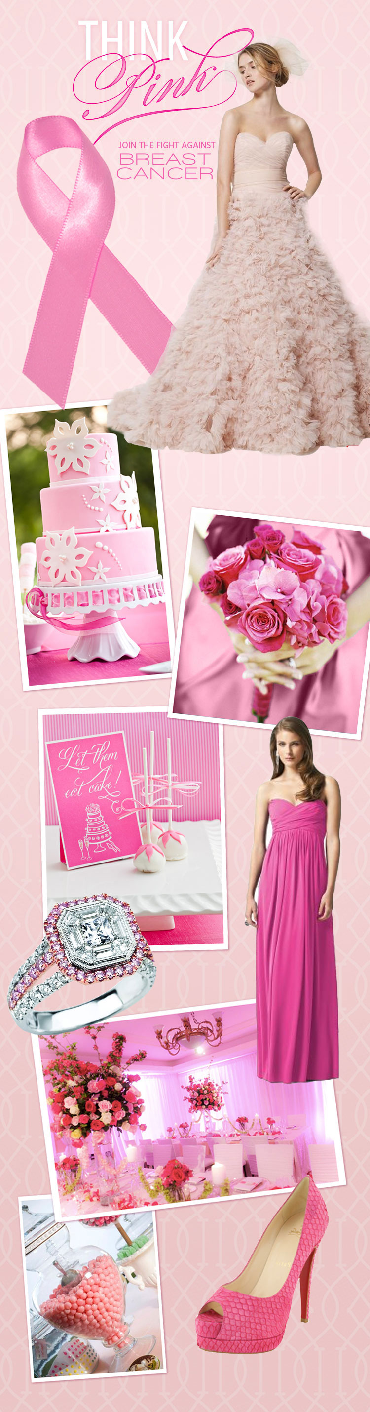 Brides of North Texas Breast Cancer Awareness Month pink wedding inspiration