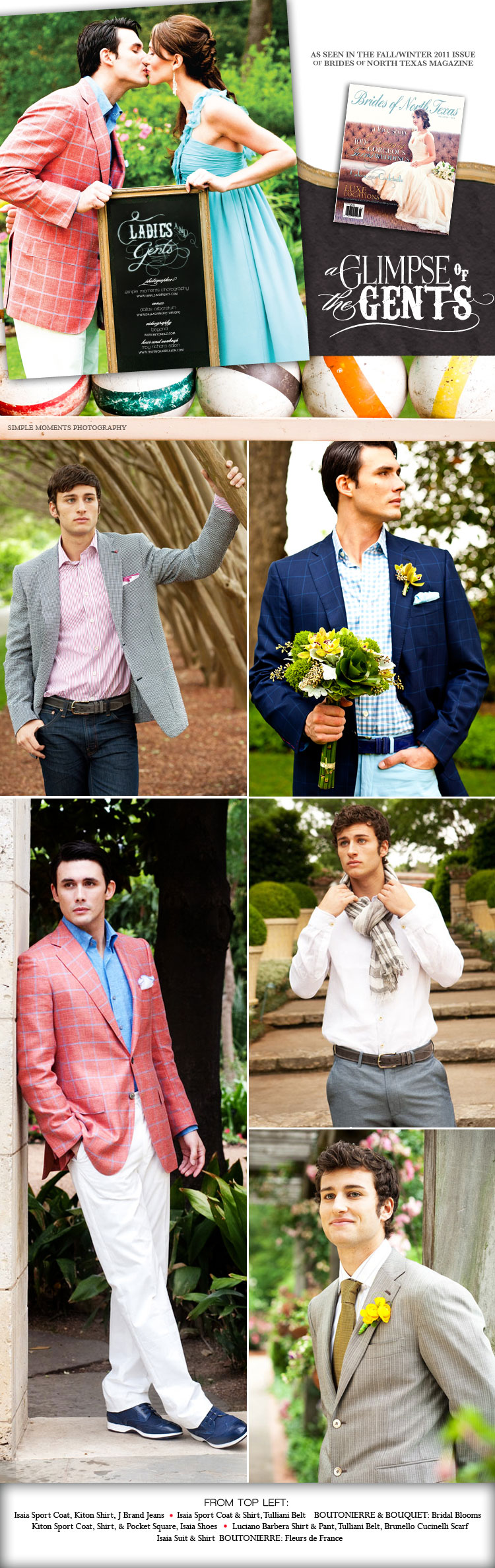 Brides of North Texas men's fashion The Bridal Salon at Stanley Korshak