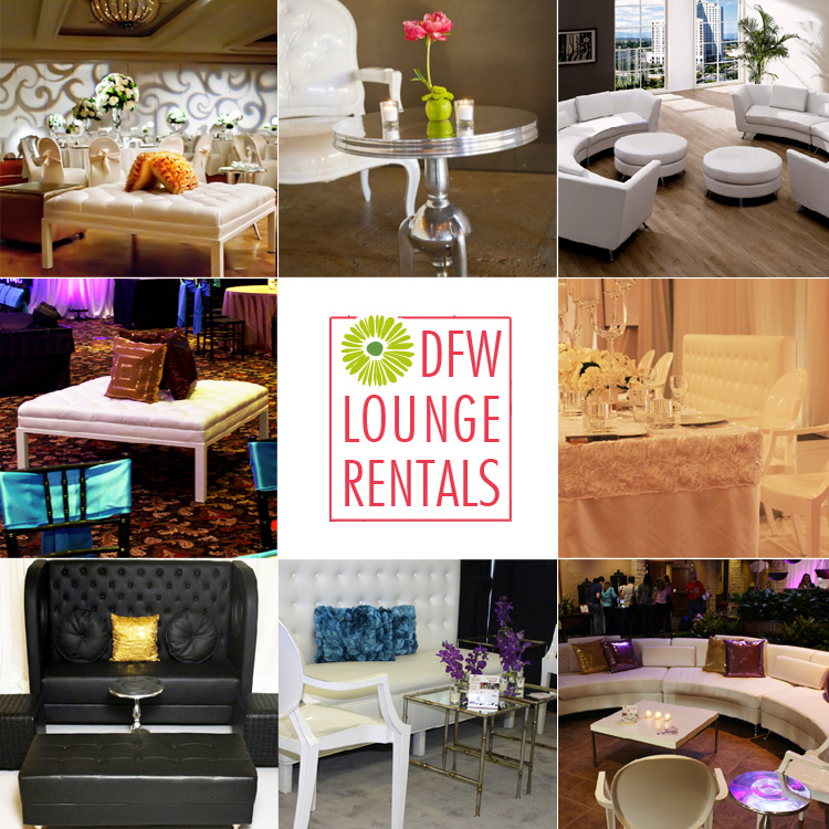 Dallas Fort Worth wedding decor and rentals DFW Lounge Rentals