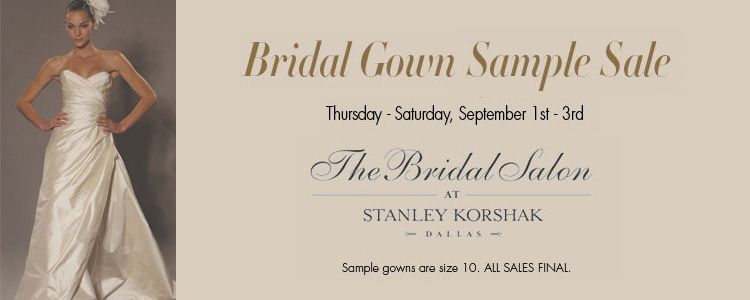 The Bridal Salon at Stanley Korshak bridal gown sample sale in Dallas