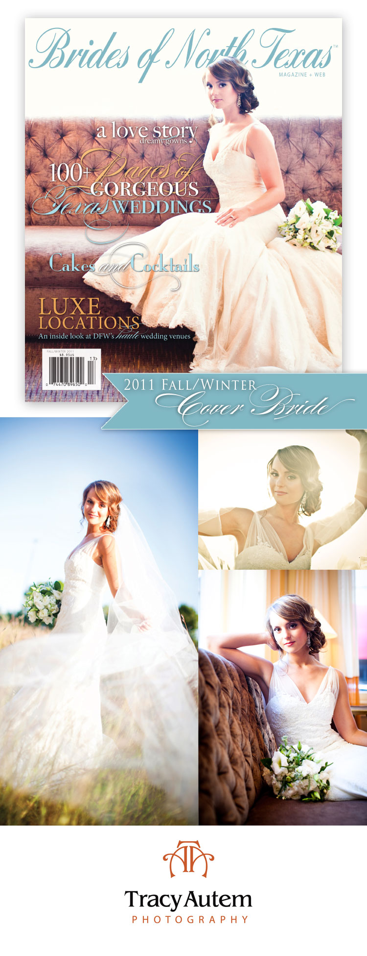 Brides of North Texas - Kendall Kirkham Cover Bride