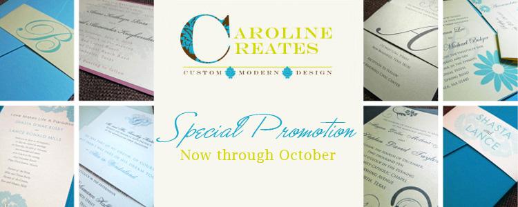 Caroline Creates Dallas Fort Worth wedding invitations and stationery