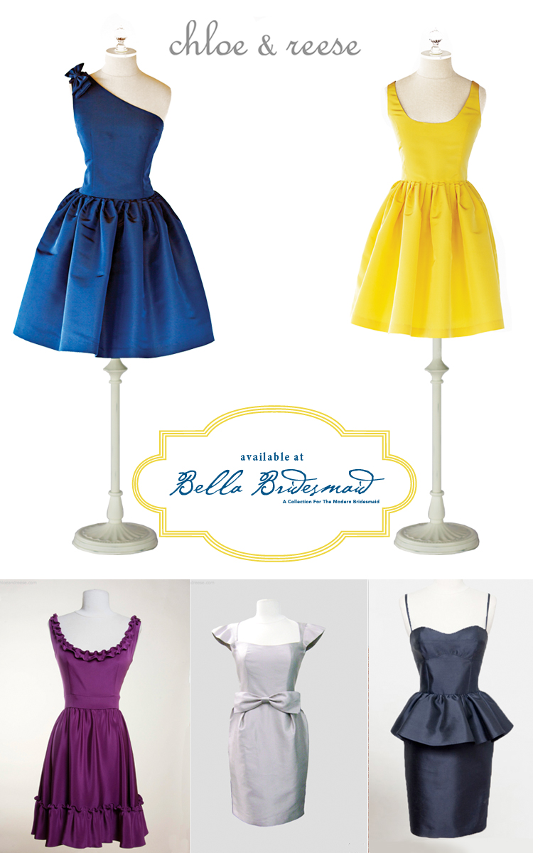 Chloe and Reese bridesmaid dresses available at Bella Bridesmaid in Dallas Texa