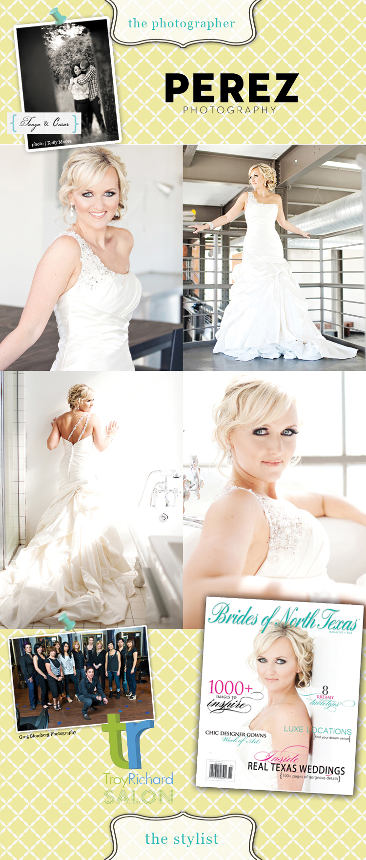 Brides of North Texas cover contest Perez Photography Troy Richard Salon