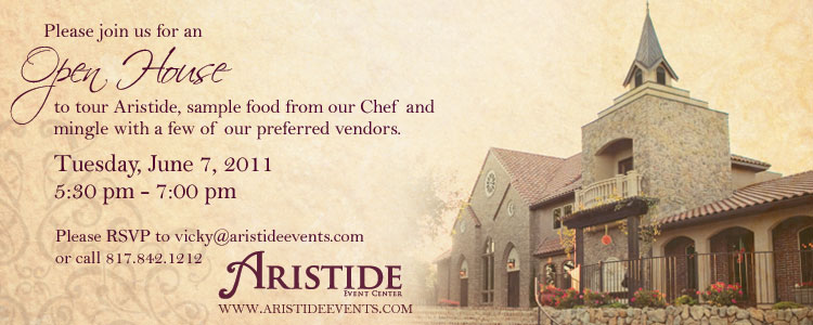 Aristide Event Center open house