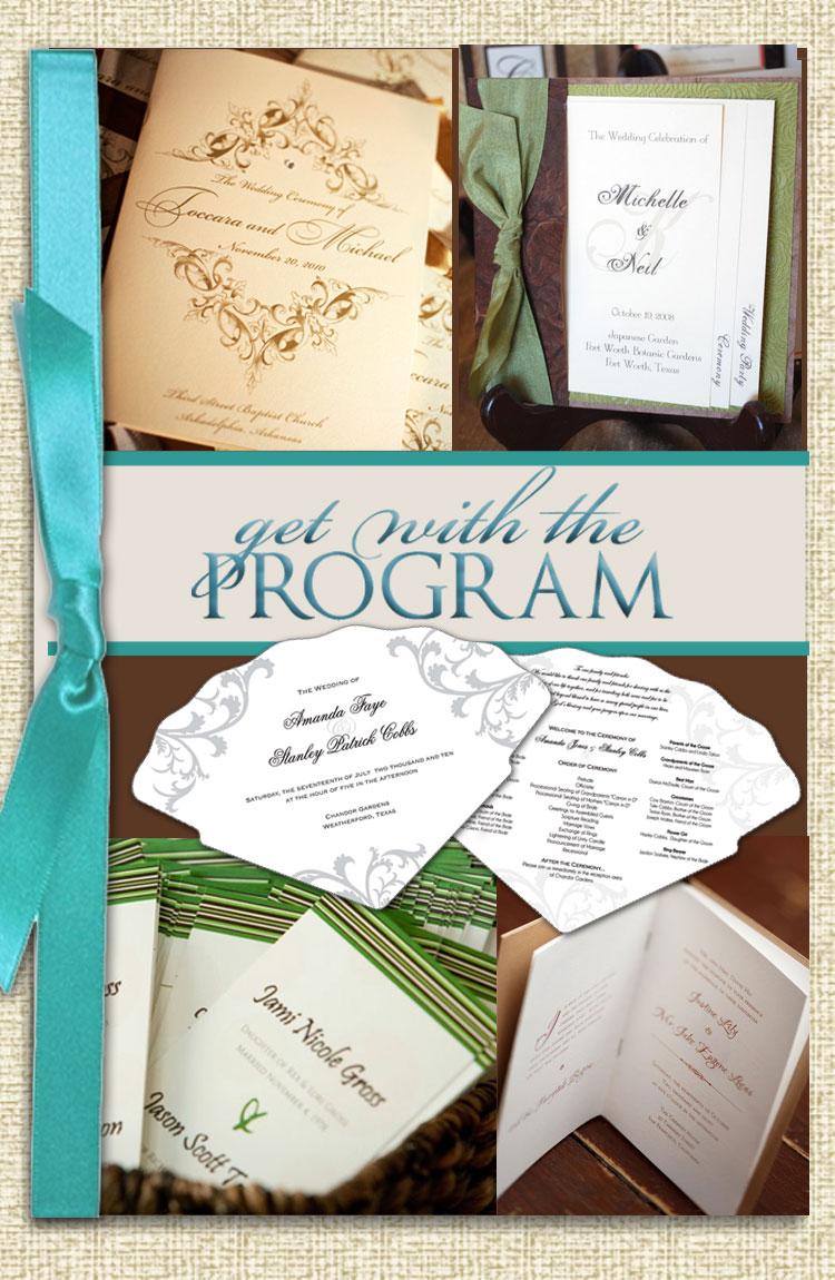 Texas wedding stationery, invitations, programs