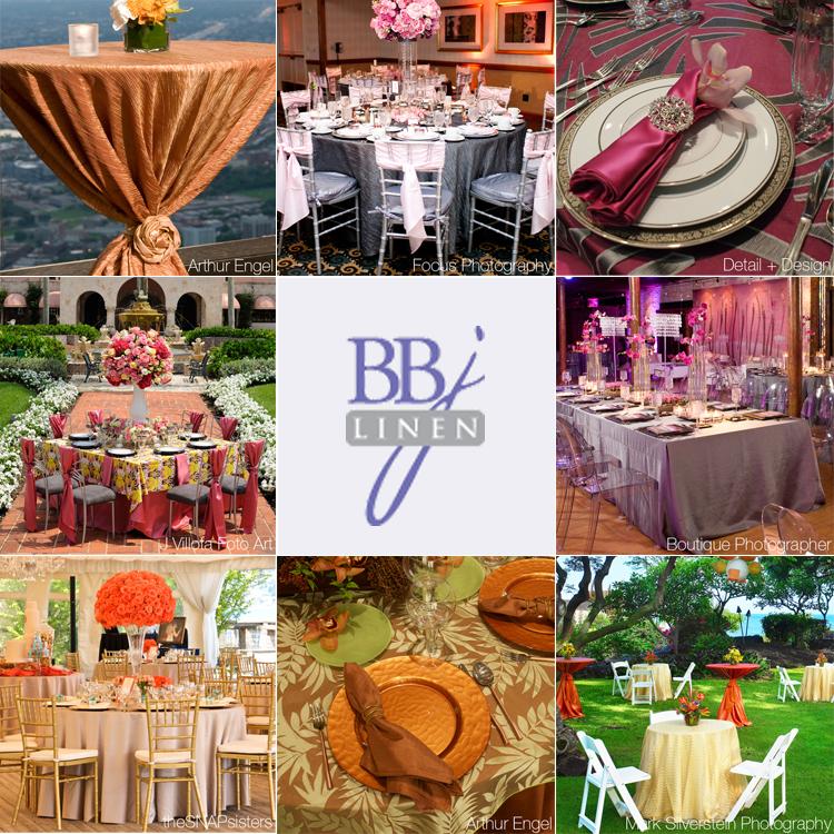 Dallas wedding rentals and decor - BBJ Linen in Dallas, Texas