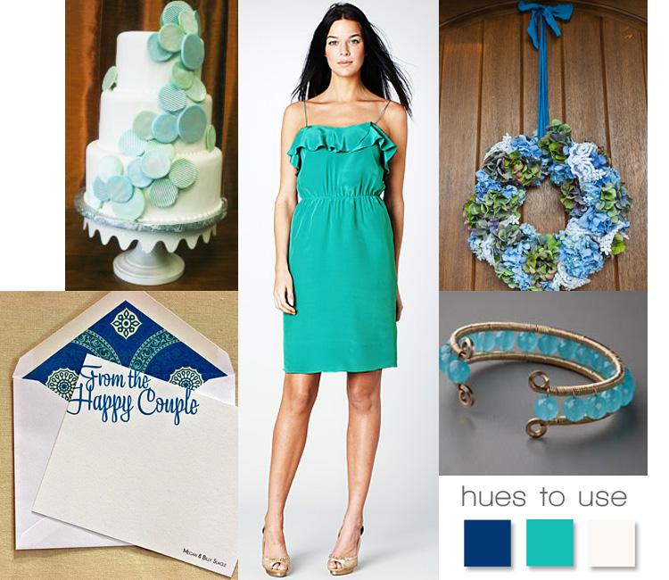 Wedding inspiration - sea foam green and ocean blue