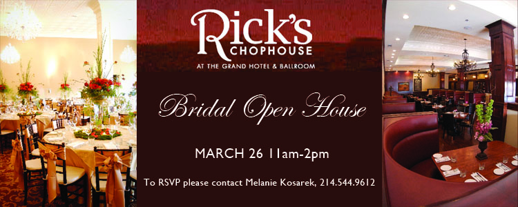 Rick's Chophouse, Bridal Open House