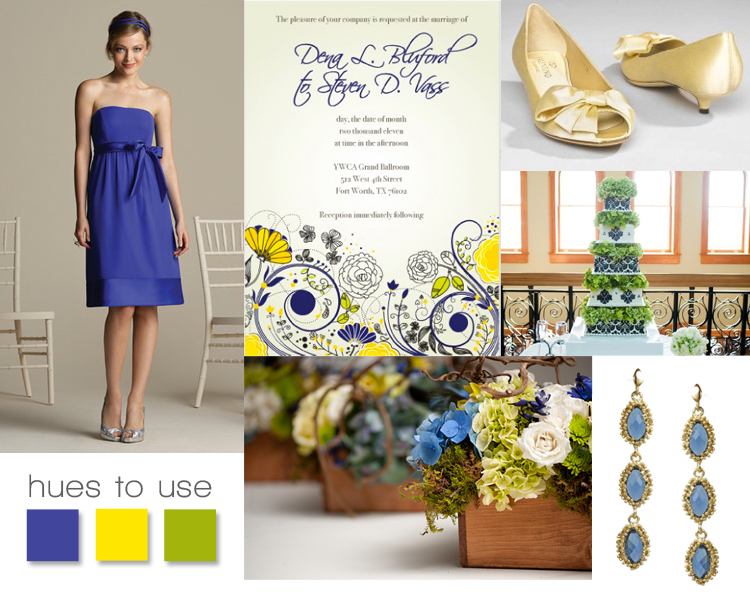 Sunshine and Indigo, Yellow and Wedding Inspriation