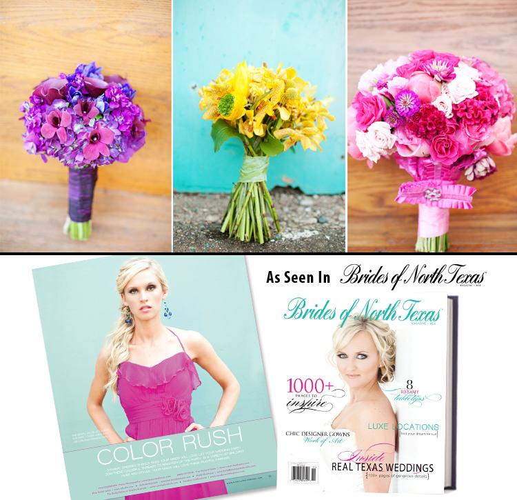 Brides of North Texas, Bridesmaids Color Rush, Perez Photography