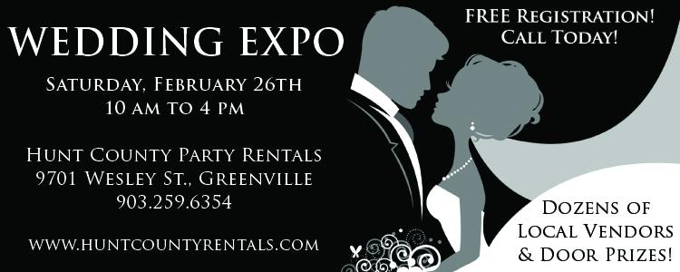 Hunt County Party Rentals Wedding Expo