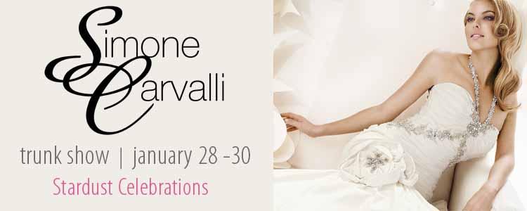 Simone Carvalli Trunk Show, Stardust Celebrations, Plano Bridal Boutique