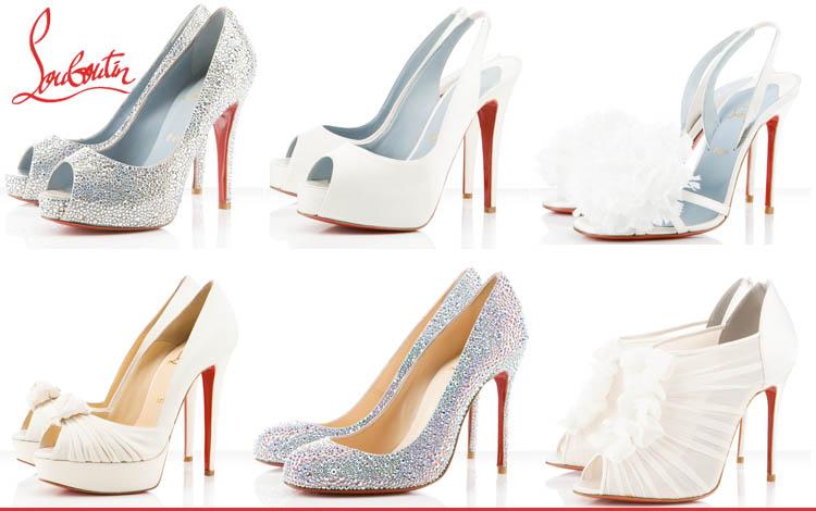 Christian Louboutin bridal shoes available at Stanley Korshak