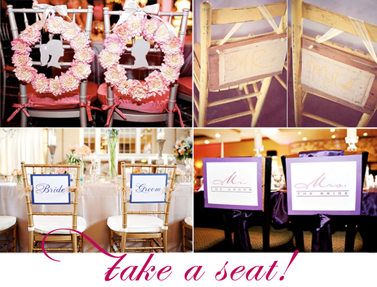 Take a Seat, Creative Ways to Decorate for Your Wedding Reception