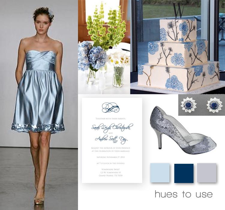 Blue Wedding Inspiration, Brides of North Texas Wedding Blog