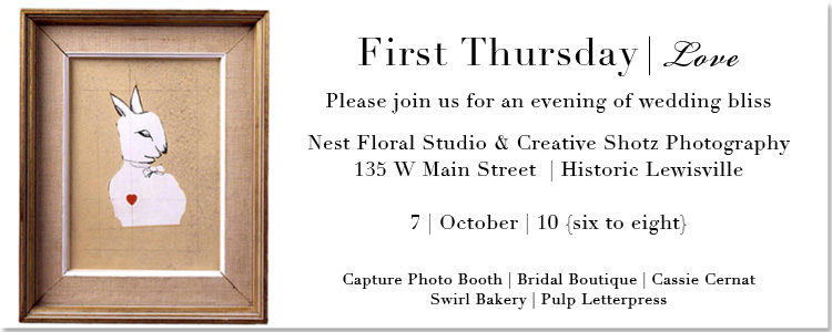 First Thursday Love, Bridal Boutique, Nest Floral Studio, Lewisville Happenings