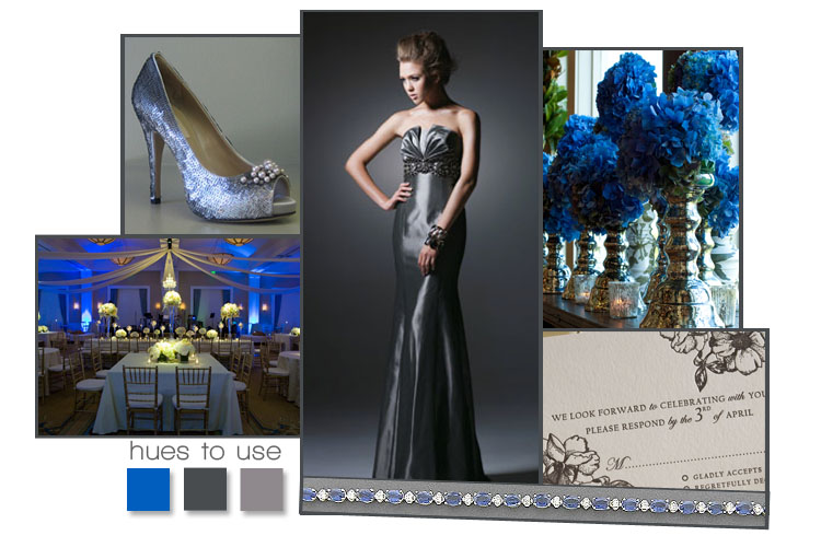 Find blue and gray wedding ideas and inspiration from Brides of North Texas.
