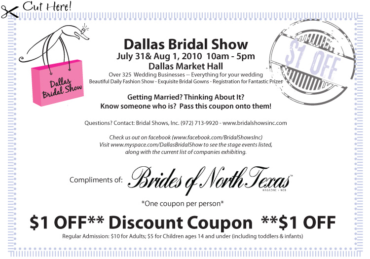 Dallas Bridal Show - Brides of North Texas Coupon