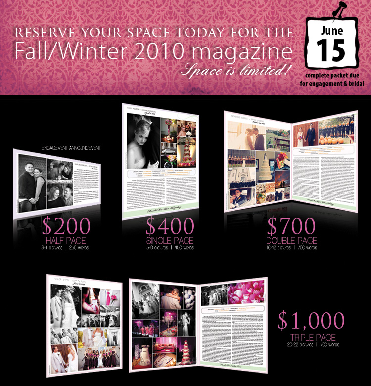 Announce your wedding or engagement in Brides of North Texas Magazine