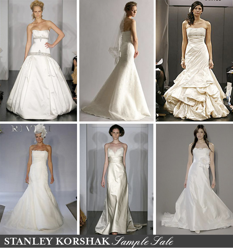 The Bridal Salon at Stanley Korshak designer sample gown sale