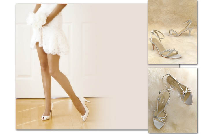 Grace Footwear availabe at Bliss Bridal, Patsy's Bridal, Stardust Celebrations and Mockingbird Bridal