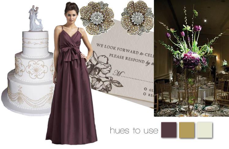 Plum Wedding Inspiration, Texas Brides