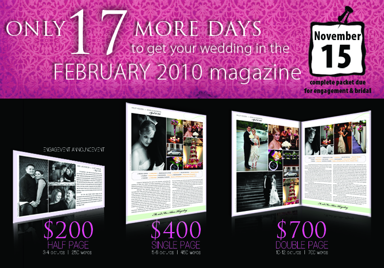 Announce your wedding in Brides of North Texas magazine — the ultimate wedding resource for the North Texas bride featuring real Texas weddings and the top wedding professionals in the industry