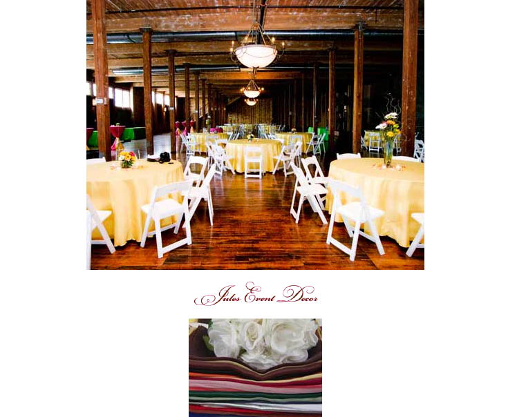Dress up your Texas wedding reception with linens from Jules Event Decor serving weddings in the DFW area