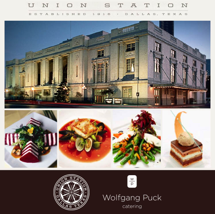 Union Station in Dallas is available for Texas weddings and receptions with food catered by world-renowned caterers Wolfgang Puck Catering