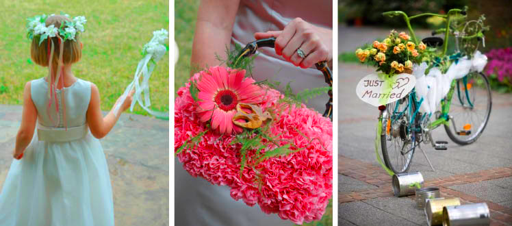Incorporate Texas wedding flowers into all aspects of your Texas wedding and reception
