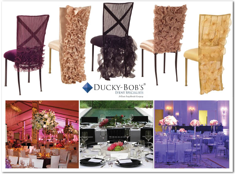 Ducky-Bob's Even Specialists new Chameleon Chairs with ruffles
