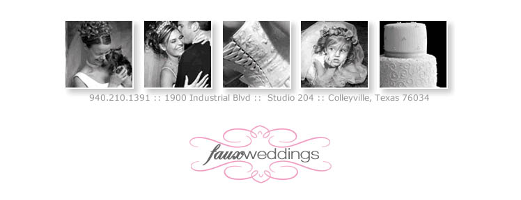 Faux weddings by Bride Associates in Dallas and Fort Worth Texas