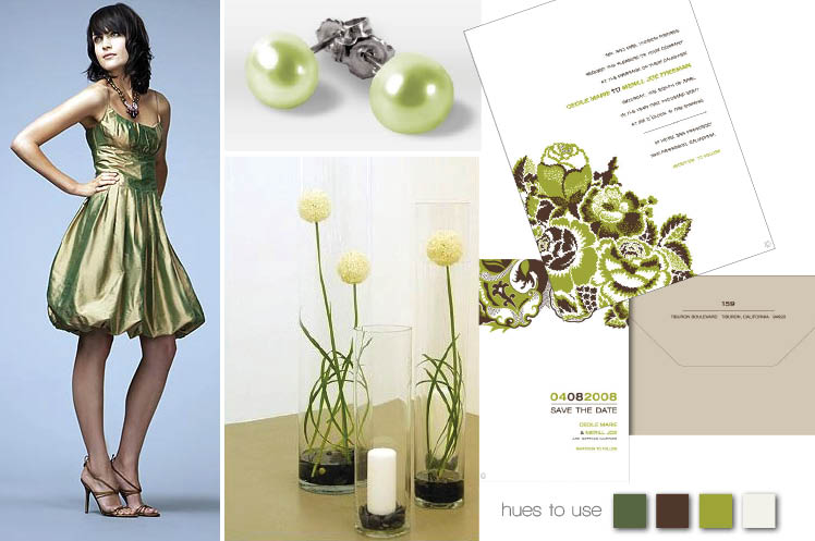 Green Nicole Miller bridesmaids' dress availavble at Neiman Marcus, Nordstrom and Tootsies in Texas