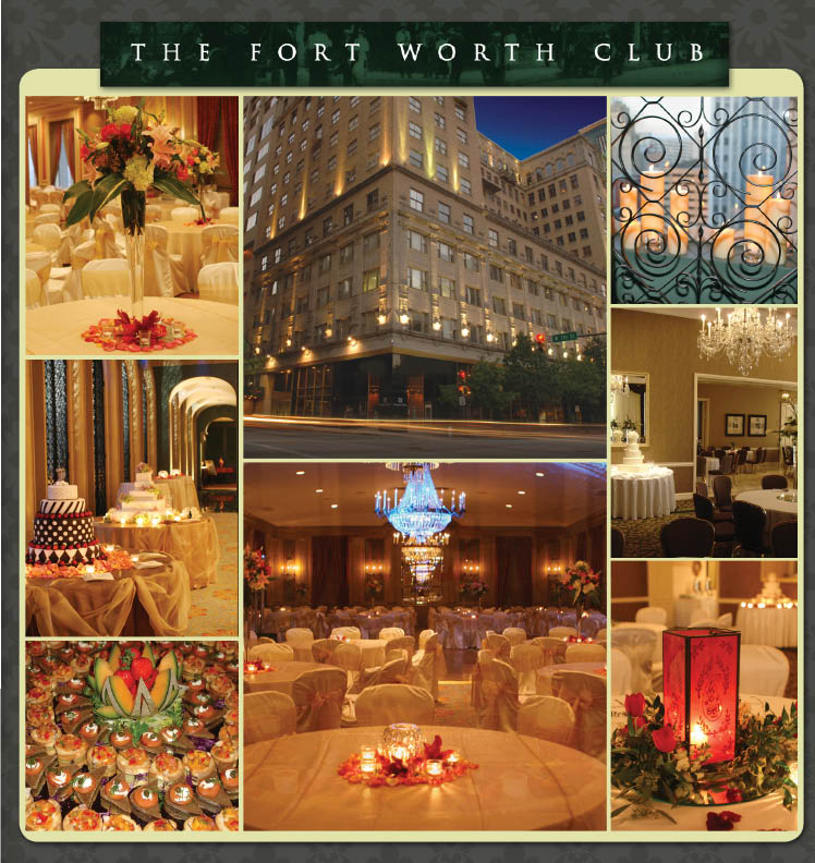 The Fort Worth Club located in downtown Fort Worth, Texas, is available for wedding receptions, rehearsal dinners and other events