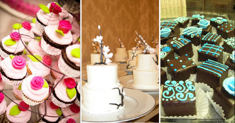 Texas wedding cakes and desserts from Crem de la Crem in Fort Worth and Dallas Affairs Cake Co. in Dallas, Texas