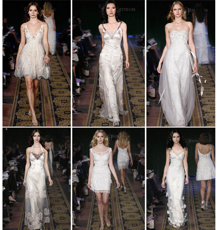 Claire Pettibone 2009 rock n' roll wedding gown line available at Patsy's, A Bridal Boutique in Dallas, Texas