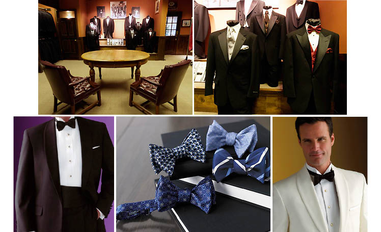 Culwell and Son offering a full line of Hickey Freeman and Corbin tuxedos as well as a collection of cummerbunds, tux shirts, vest, studs, ties and patent shoes in Dallas, Texas for father of the bride and grooms