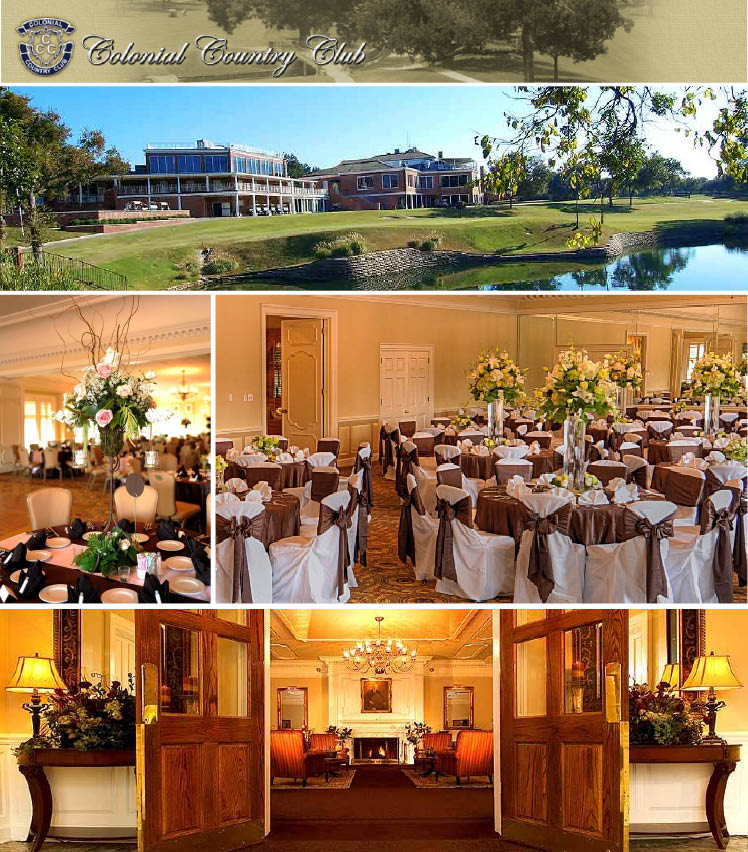 Colonial Country Club wedding and reception venue located in Fort Worth, Texas