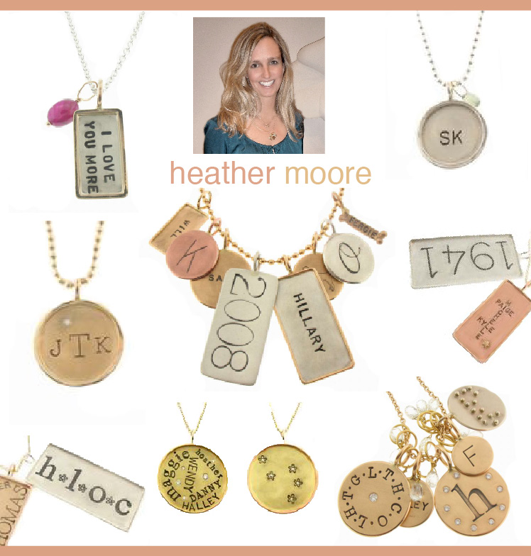 Heather Moore hand-pressed charm collection found at Ylang23 and Neiman Marcus in Dallas