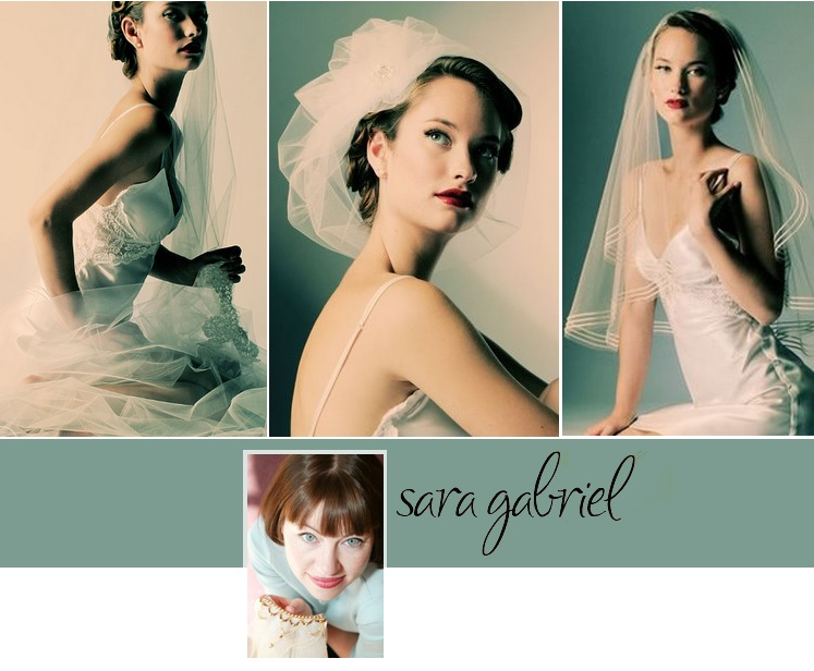 Custom designer Sarah Gabriel and her couture line of bridal veils and headpieces - available at Bliss Bridal Salon and Stardust Celebrations in Texas