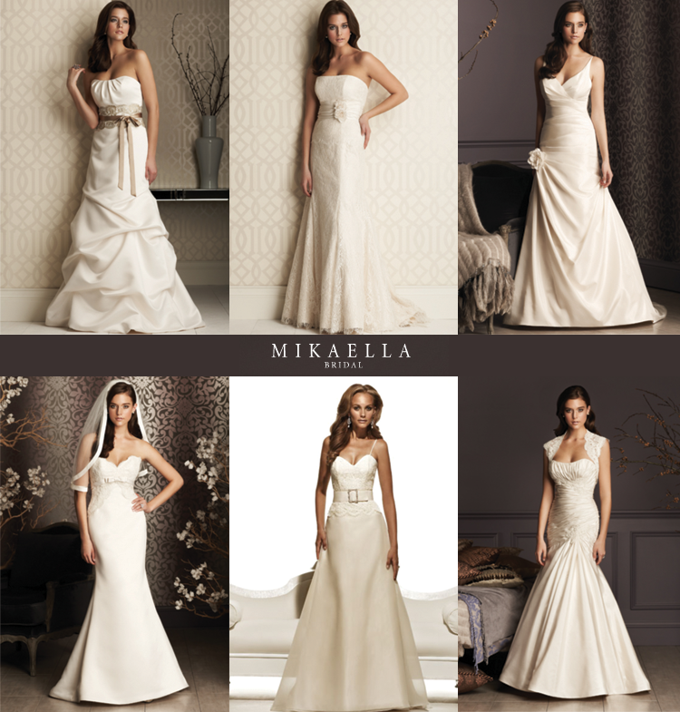 Bridal Silhouettes from Mikaella available at Bridal Collections by Stella at The Shops at Legacy in Plano.