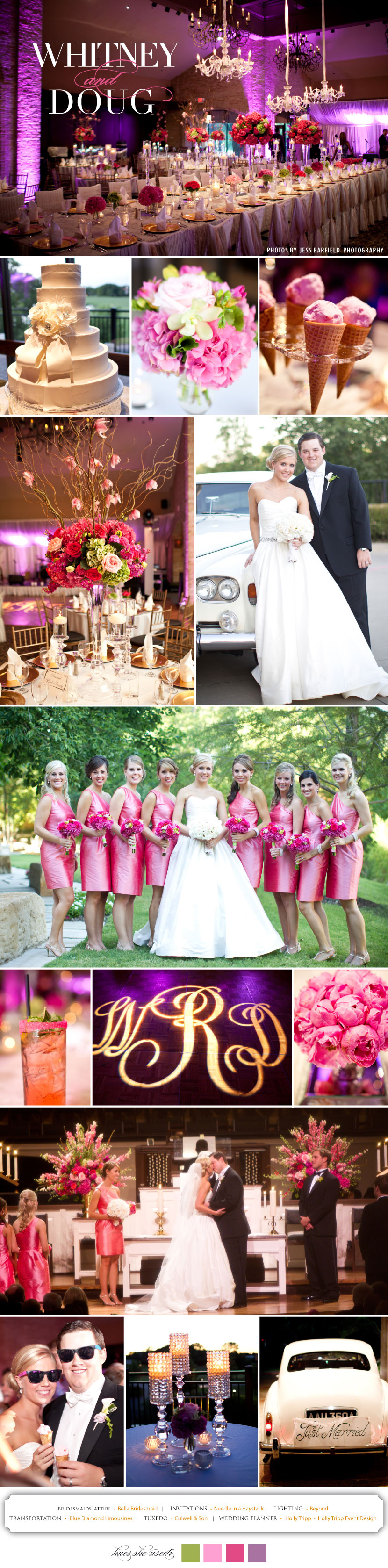 Pink and purple Dallas Fort Worth wedding