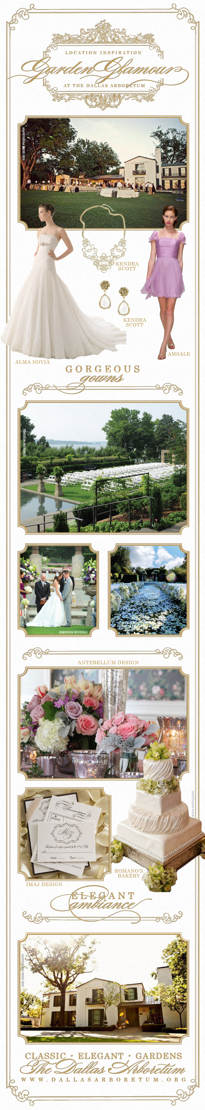 Wedding inspiration from DFW wedding and reception venue the Dallas Arboretum