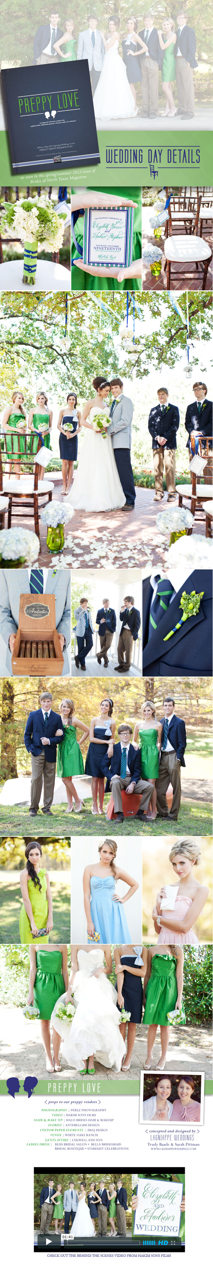 Brides of North Texas preppy love wedding fashion editorial