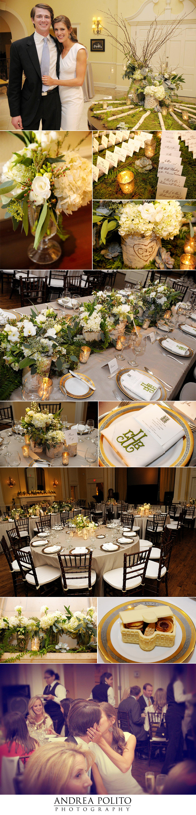 Dallas wedding rehearsal dinner at Arlington Hall coordinated by DFW Events