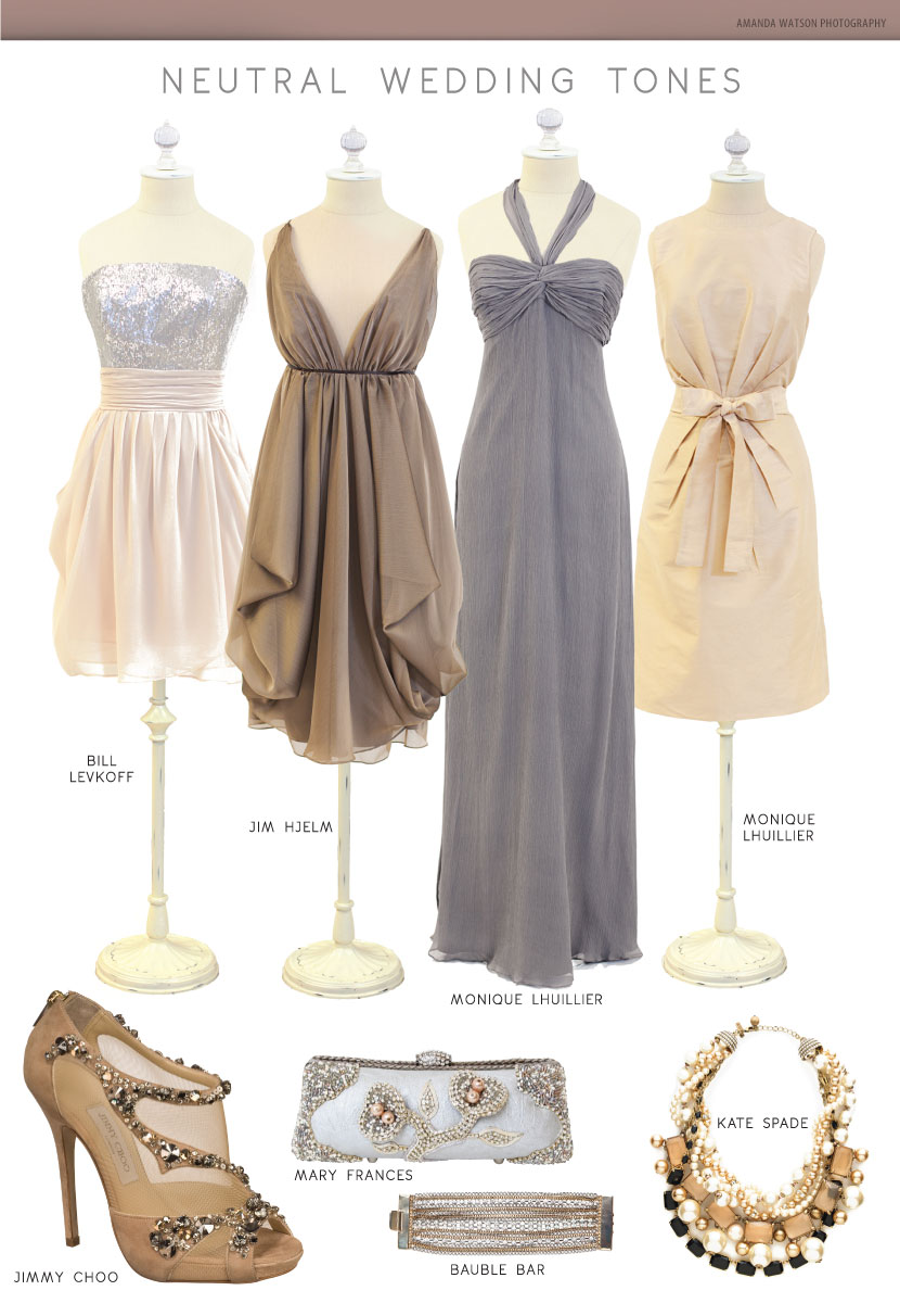 Neutral Wedding Tones